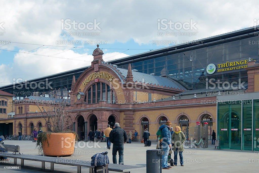 Erfurt Hauptbahnhof, Thuringia, Germany stock photo