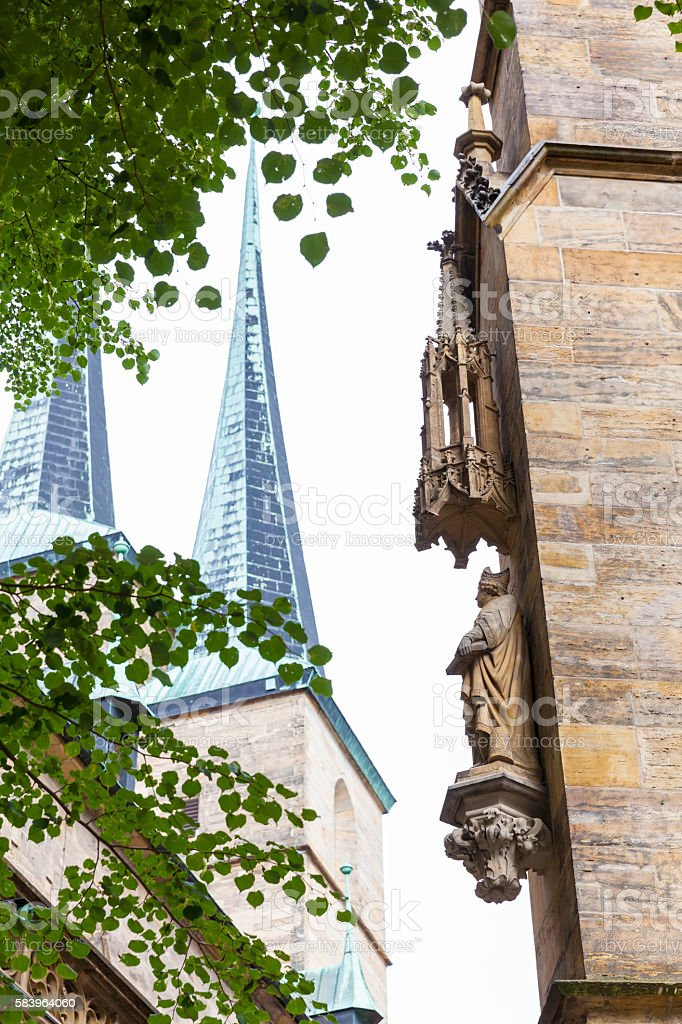 Erfurt, medieval sculpture stock photo