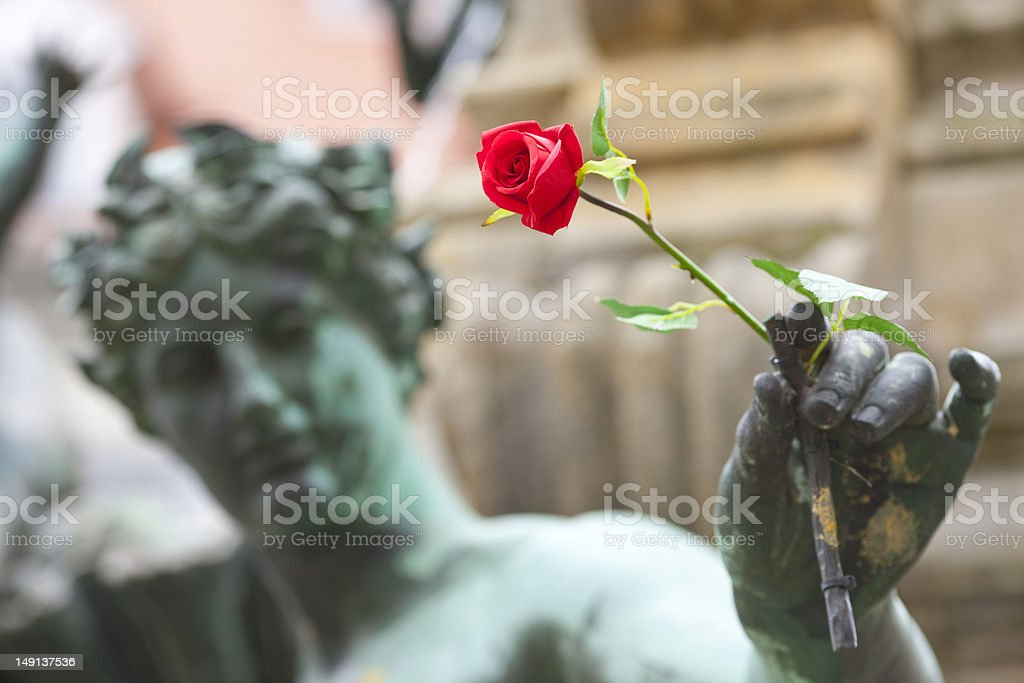 Erfurt, sculpture stock photo