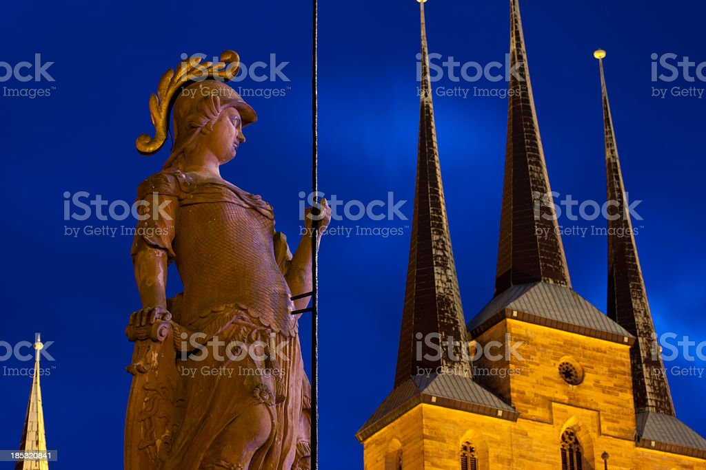 Erfurt, scupture stock photo