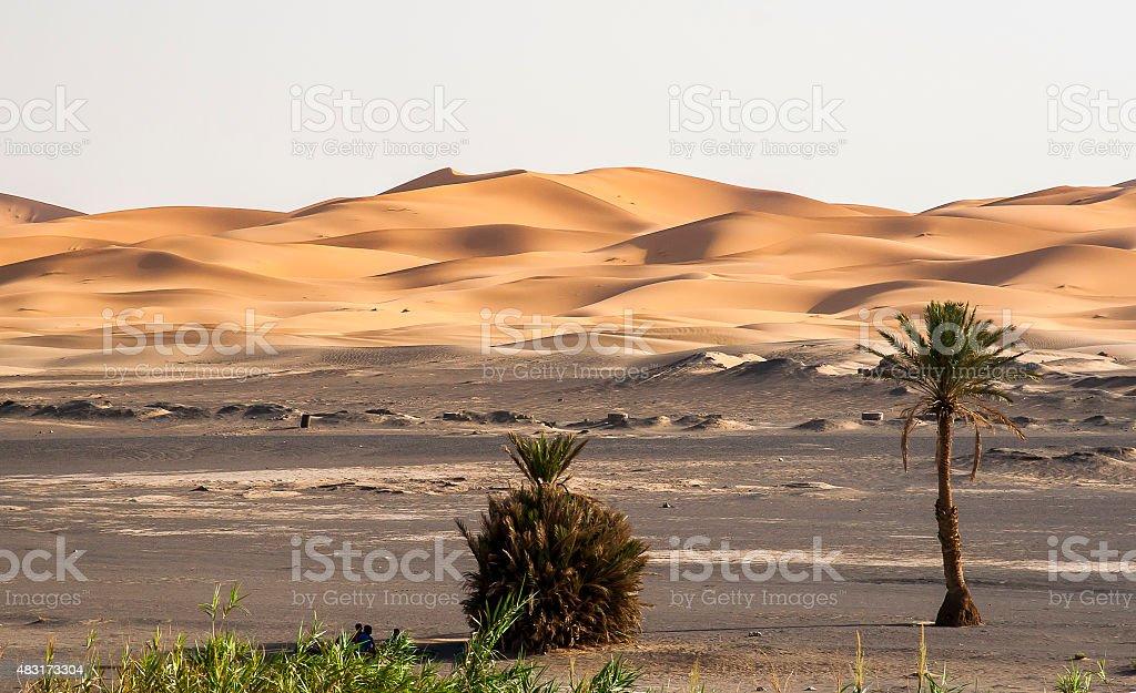 Erg Chebbi in Morocco stock photo