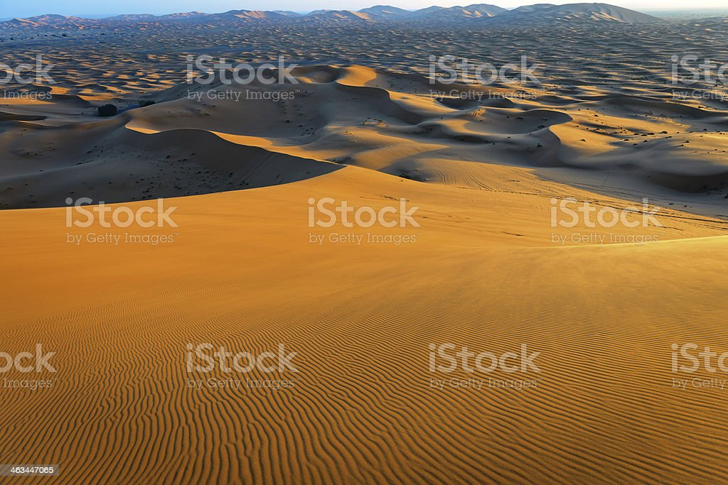 Erg Chebbi Sand Dunes, Morocco, Northern Africa stock photo