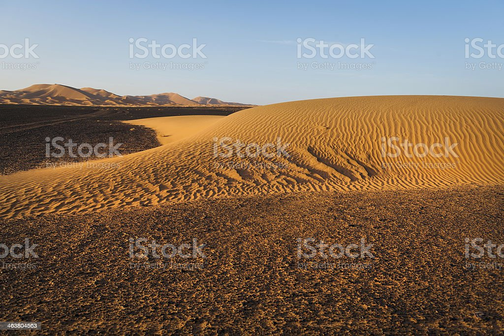 Erg Chebbi Sand Dunes, Morocco, Northern Africa royalty-free stock photo