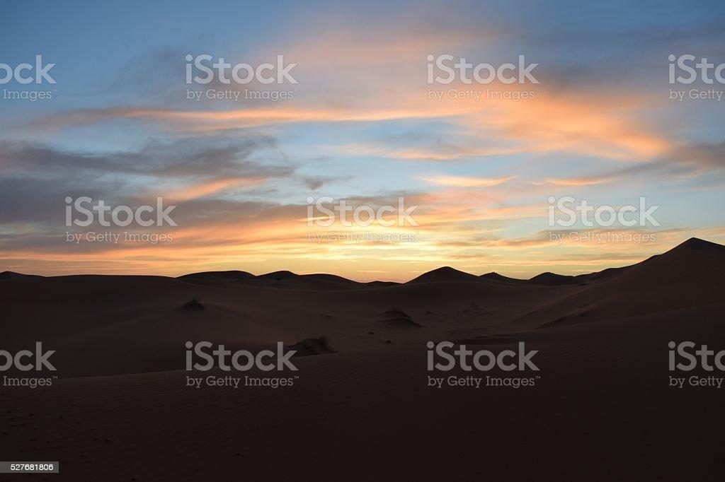 Erg Chebbi Sand Dunes, Morocco, Northern Africa stock photo