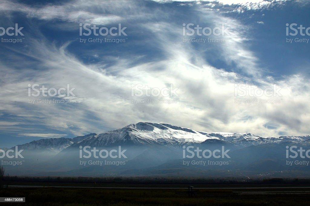 Ergan Mountain stock photo