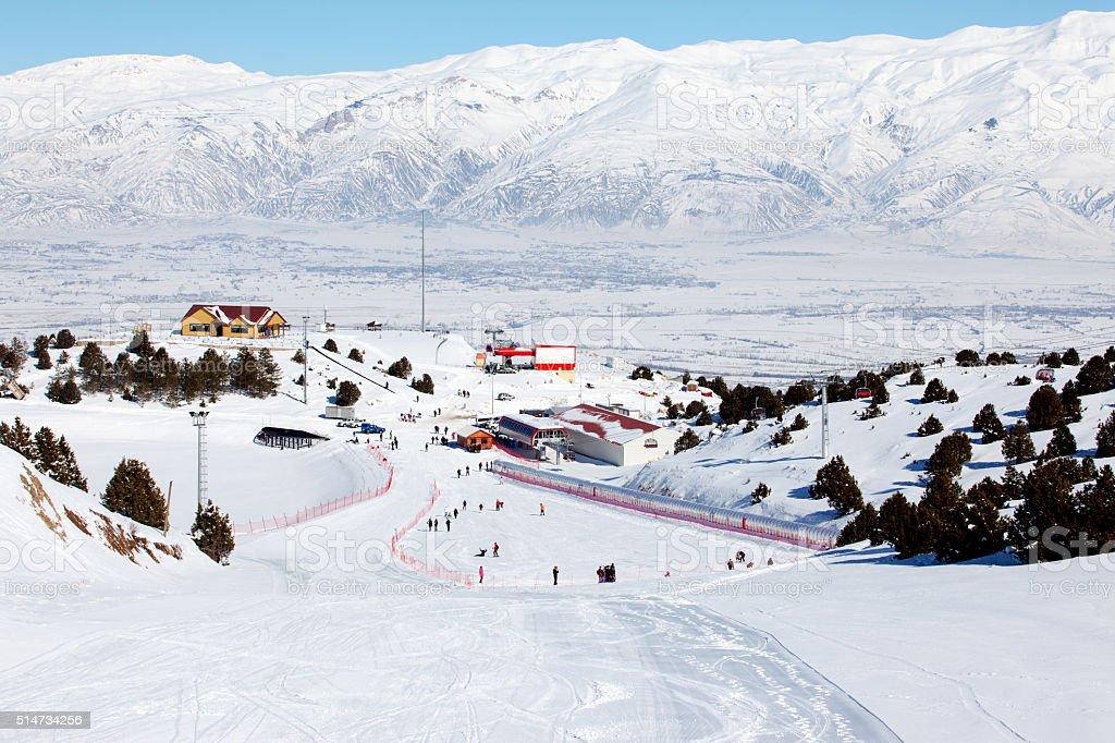 Ergan Ski Center stock photo