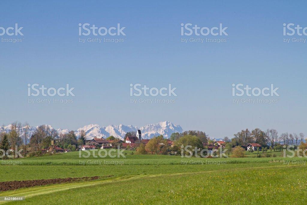 Ergertshausen in Upper Bavaria stock photo