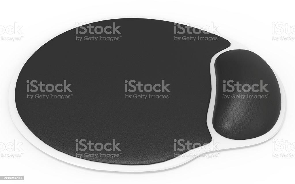 Ergonomic mouse pad isolated on a white background stock photo