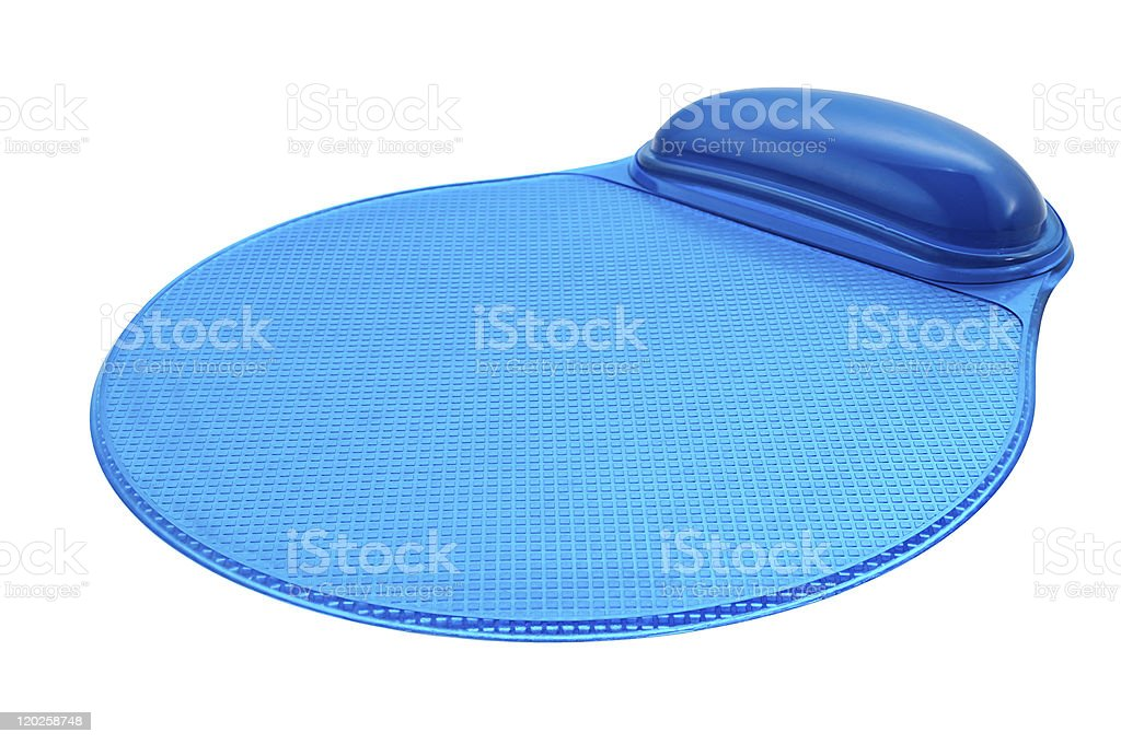 Ergonomic mouse pad stock photo