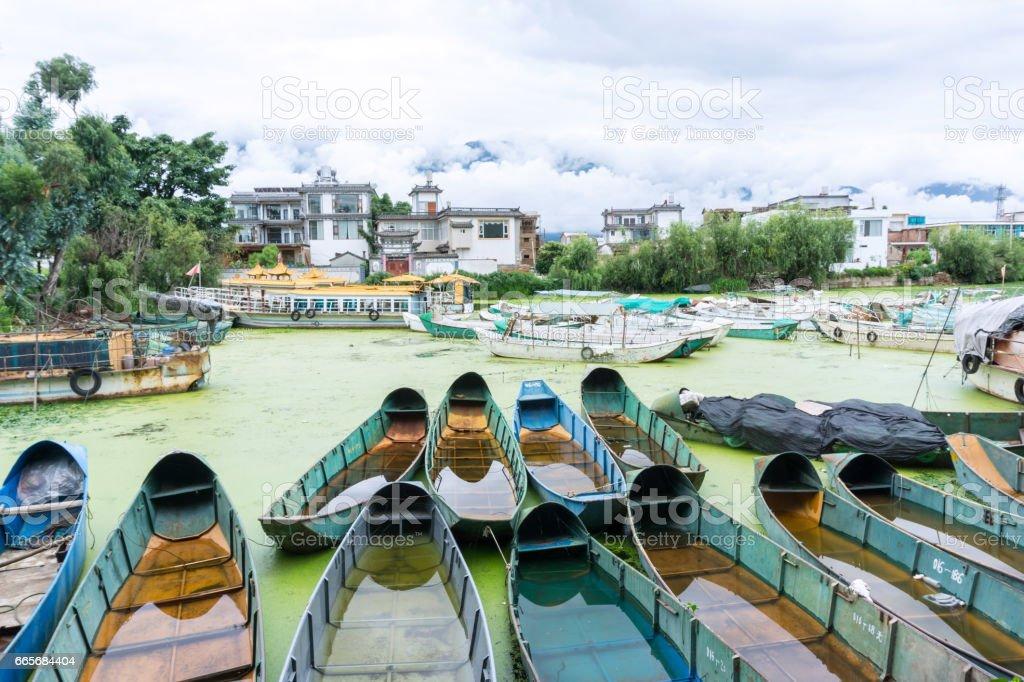 Erhai Lake landscape stock photo