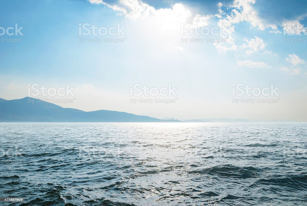 Erhai lake stock photo