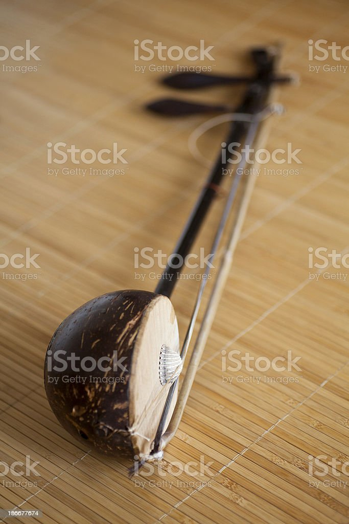 erhu, Chinese classical instruments stock photo