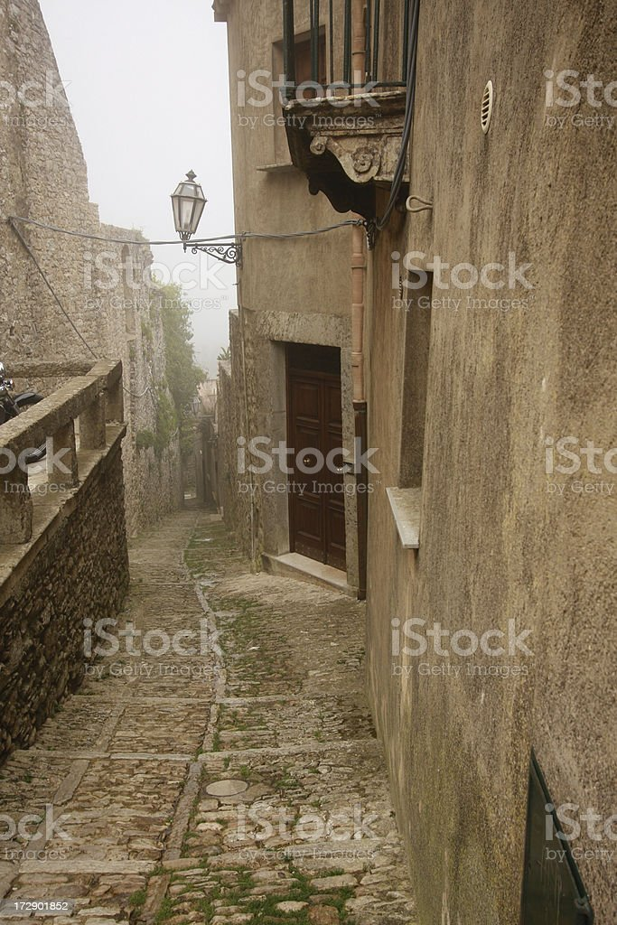 Erice, a middle ages jewel in Sicily, Italy royalty-free stock photo