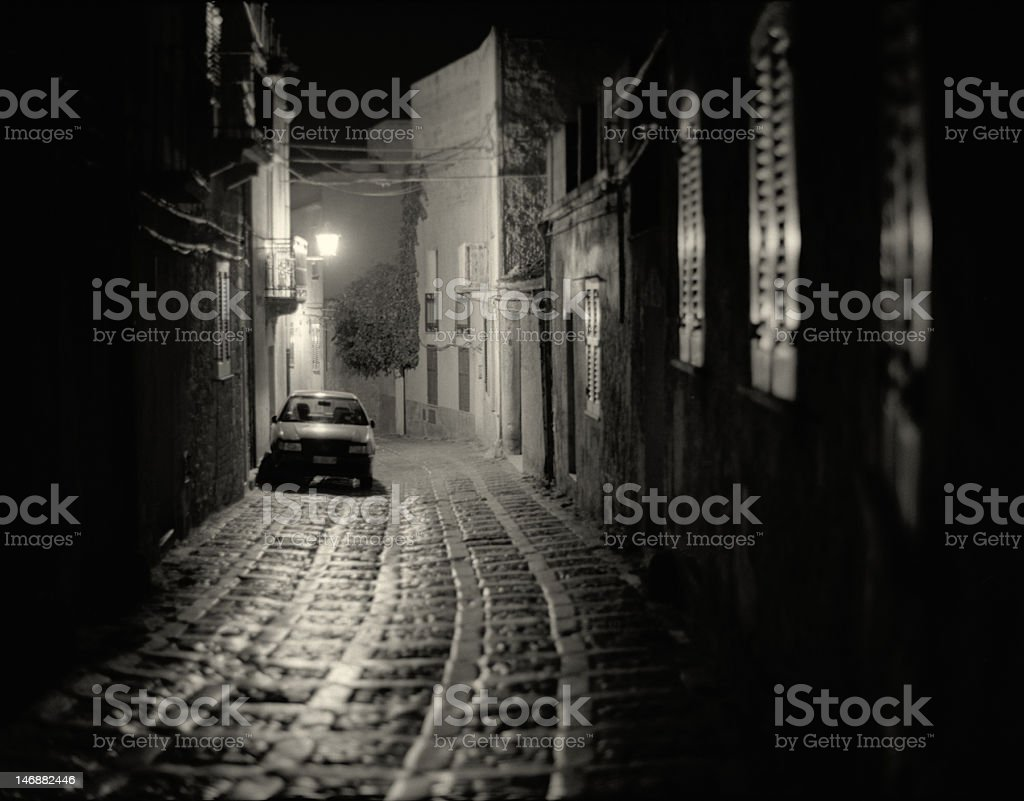 Erice at Night 1 stock photo