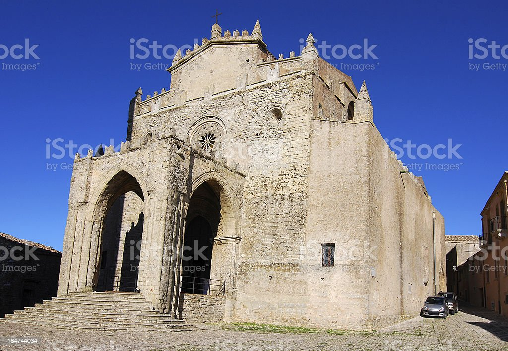 Erice Cathedral, Sicily, Italy royalty-free stock photo