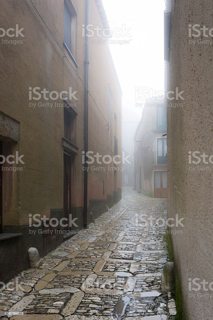 Erice in the Clouds stock photo