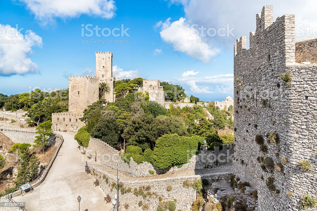 Erice medieval town, Sicily, Italy stock photo