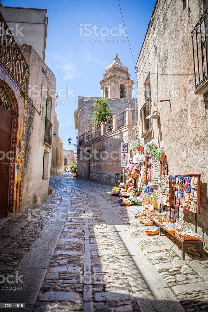Erice-Trapani-Sicilia stock photo