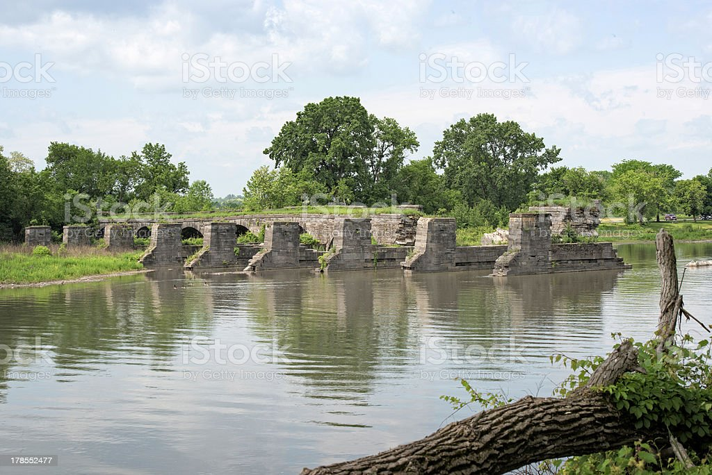 Erie Canal aquaduct at Schoharie Crossing. stock photo