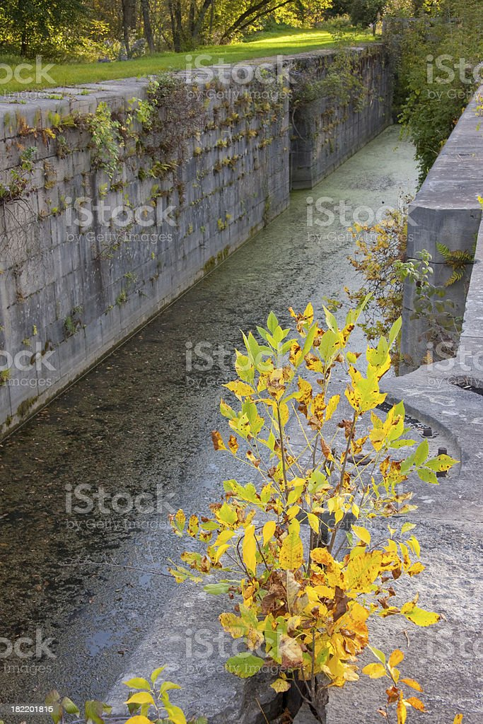 Erie Canal Lock stock photo