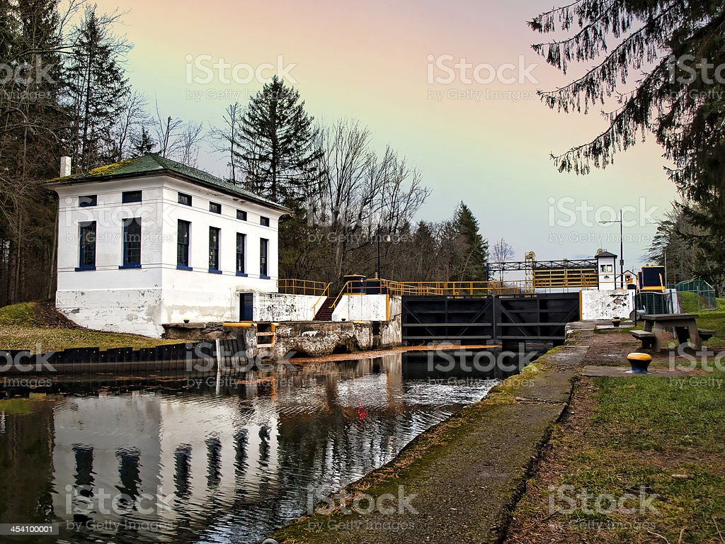 erie canal stock photo