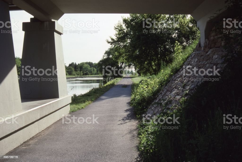 Erie Canal Towpath stock photo