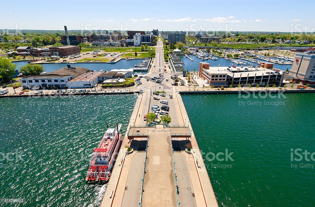 Erie skyline stock photo