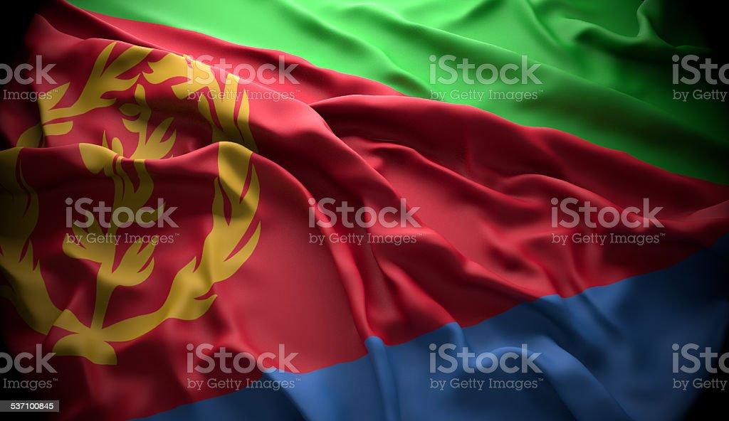 Eritrea, Asmara national official state flag stock photo