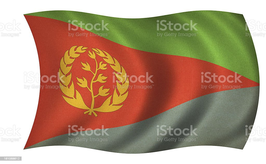 Eritrea Flag stock photo