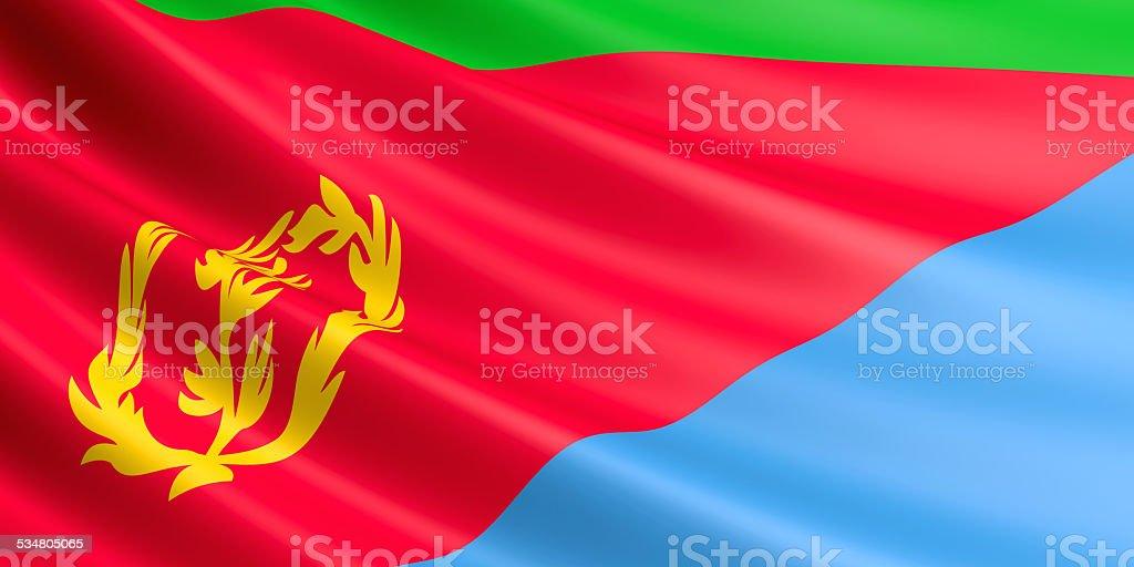 Eritrea flag. royalty-free stock photo