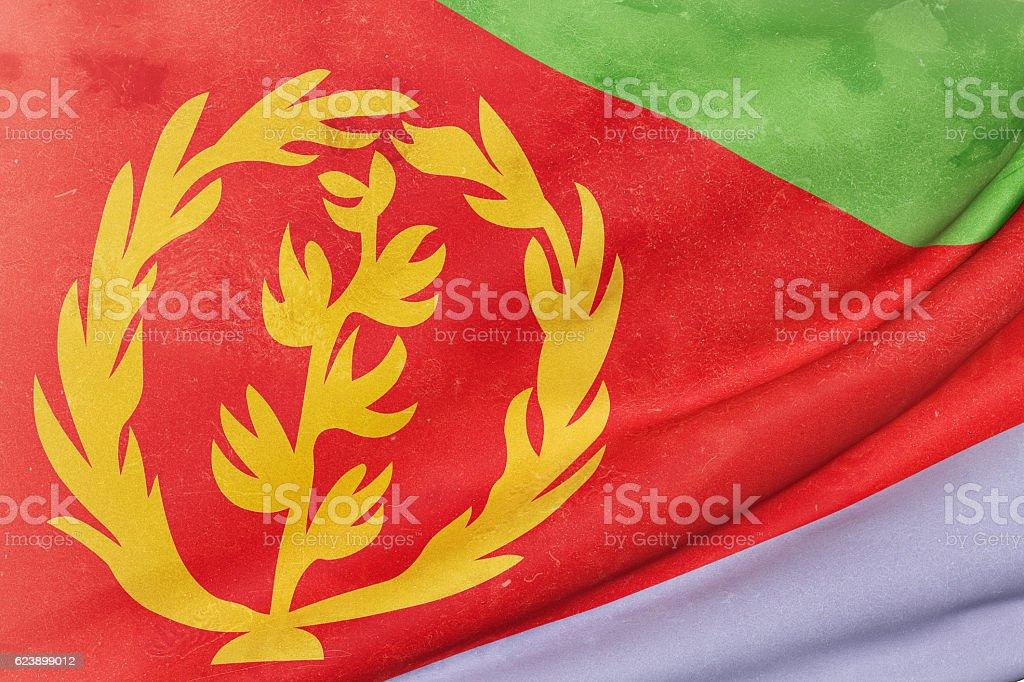 Eritrea flag waving stock photo