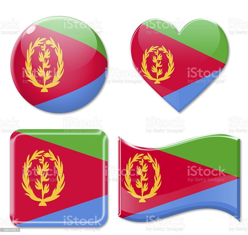Eritrea Flags & Icon Set stock photo