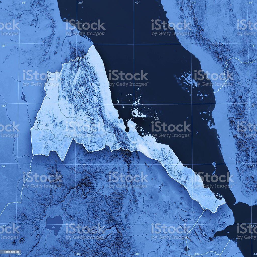 Eritrea Topographic Map royalty-free stock photo