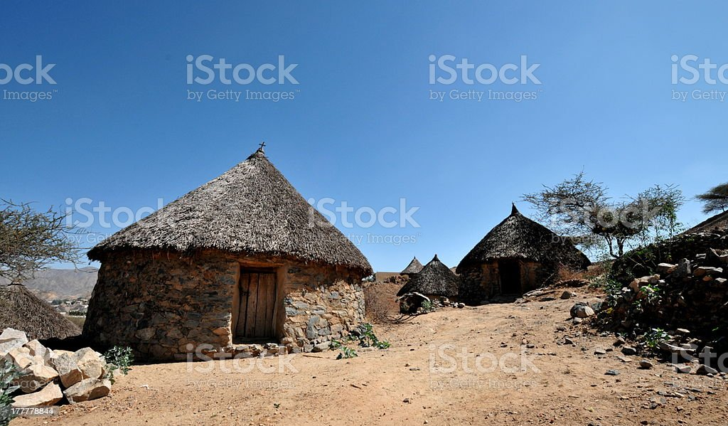 Eritrea, Traditional African Hut stock photo