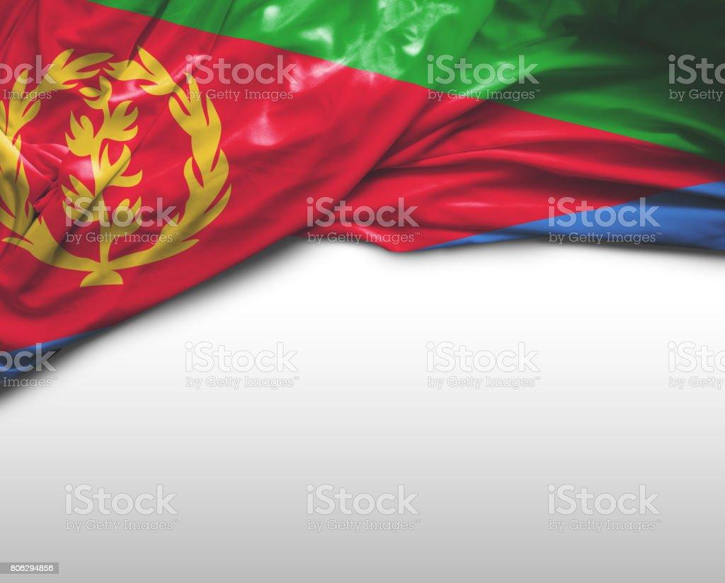 Eritrea waving flag stock photo