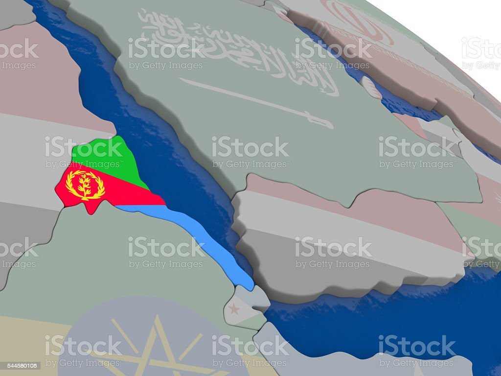 Eritrea with flag stock photo