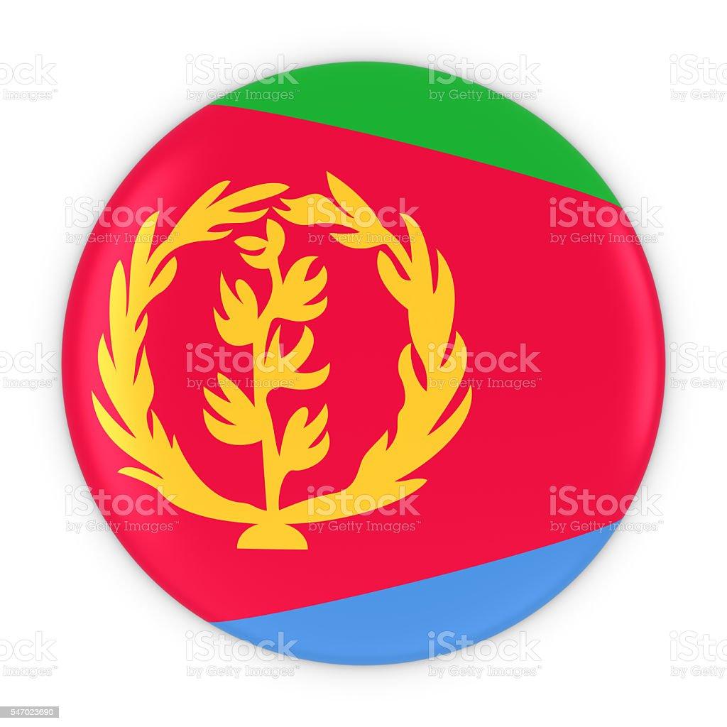 Eritrean Flag Button - Flag of Eritrea Badge 3D Illustration stock photo