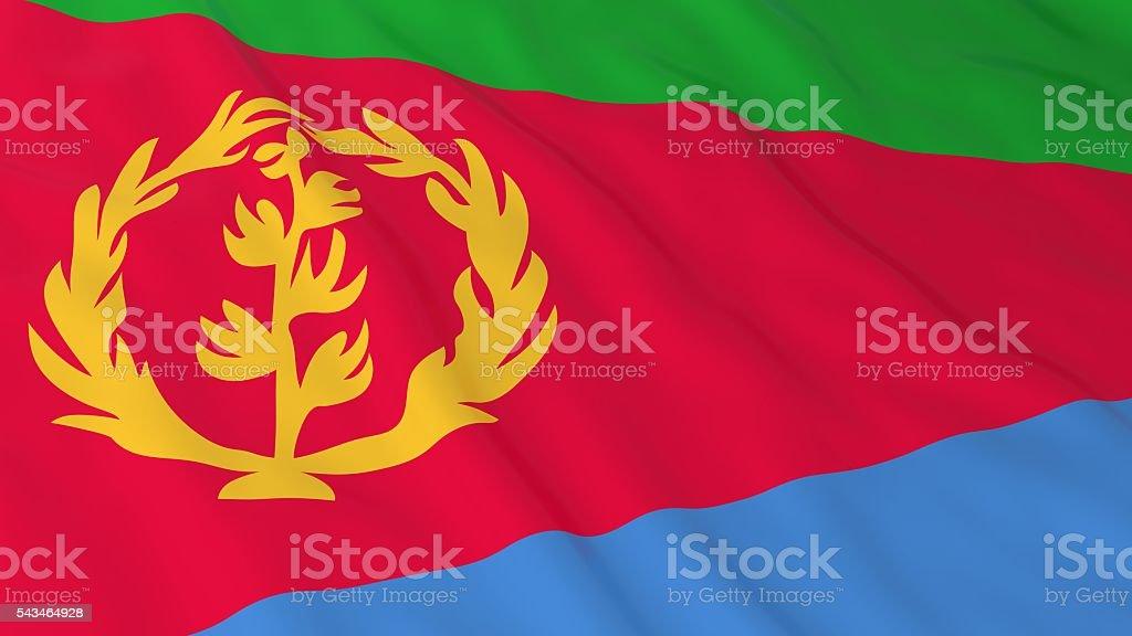 Eritrean Flag HD Background - Flag of Eritrea 3D Illustration stock photo