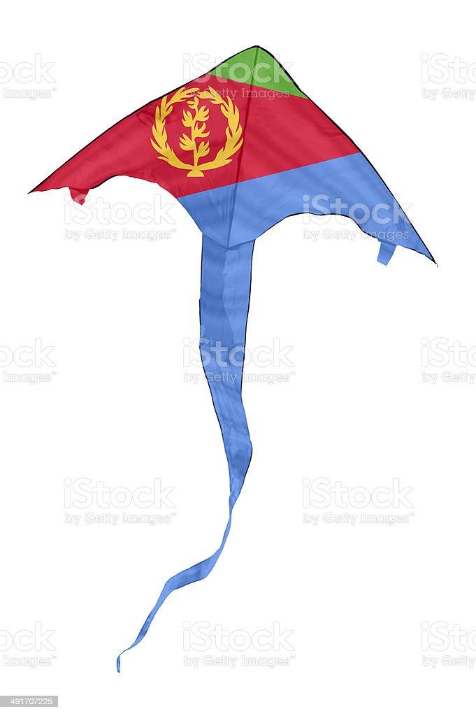 Eritrean Flag Kite stock photo
