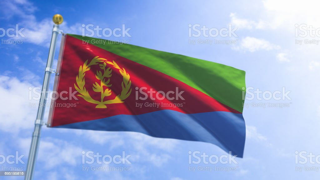 Eritrean Flag stock photo