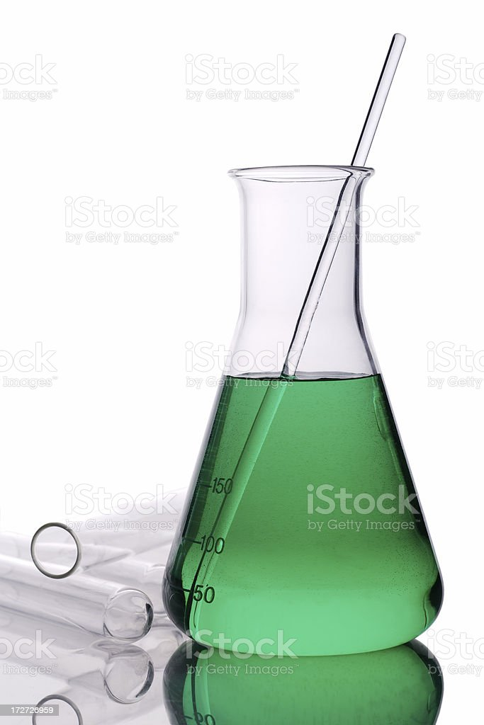 Erlenmeyer flask royalty-free stock photo