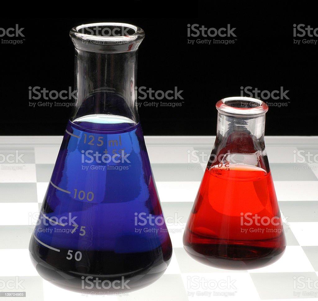 Erlenmeyer Flasks royalty-free stock photo