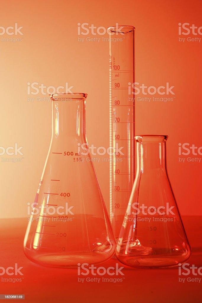 Erlenmeyer Flasks stock photo