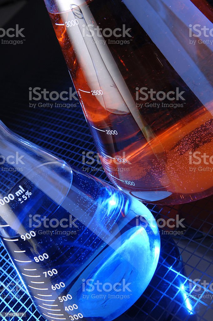 Erlenmeyer Lab Flask royalty-free stock photo