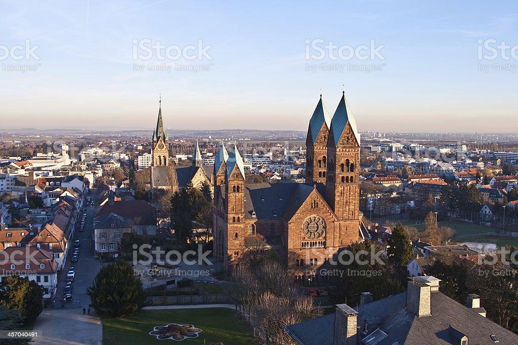Erloserkirche in Bad Homburg stock photo