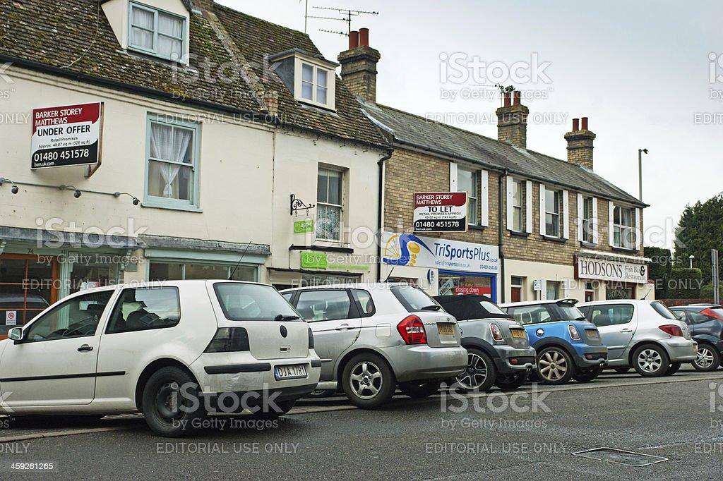Ermine Street Huntingdon stock photo