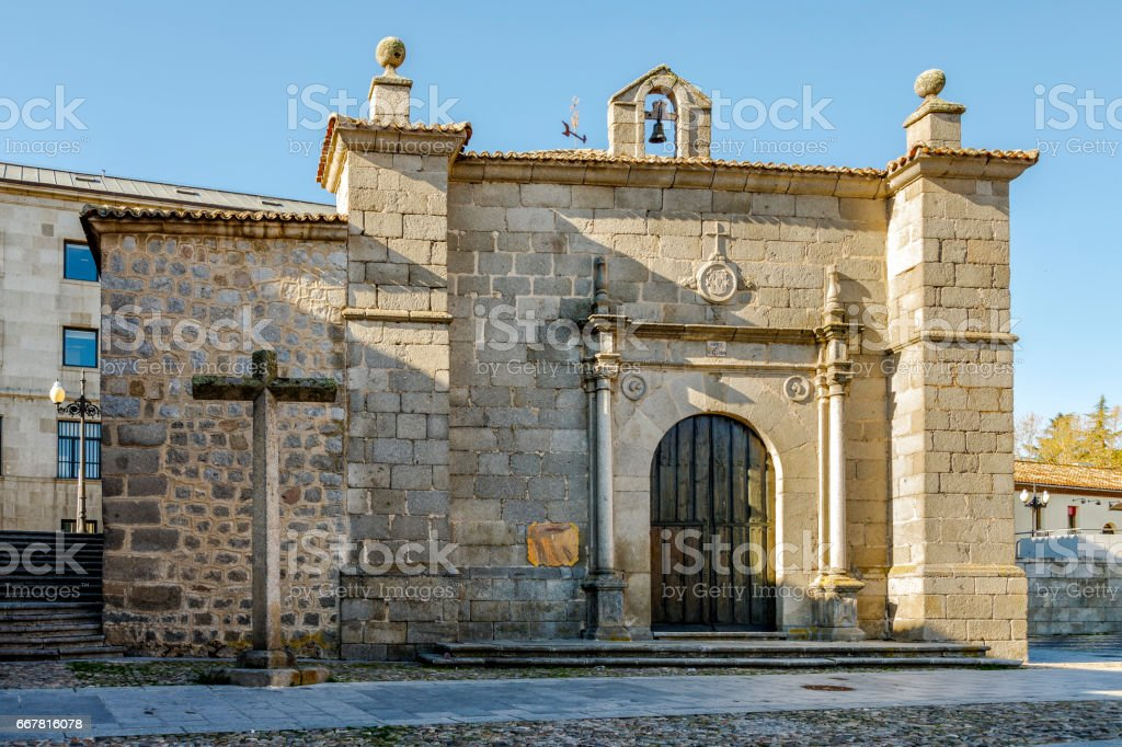 Ermita del Humilladero, is the seat of the oldest penitential Brotherhood of Avila stock photo