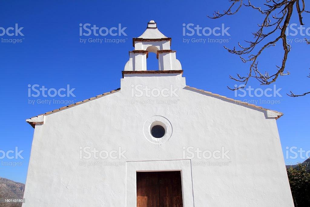 Ermita la Xara Simat de Valldigna white church stock photo