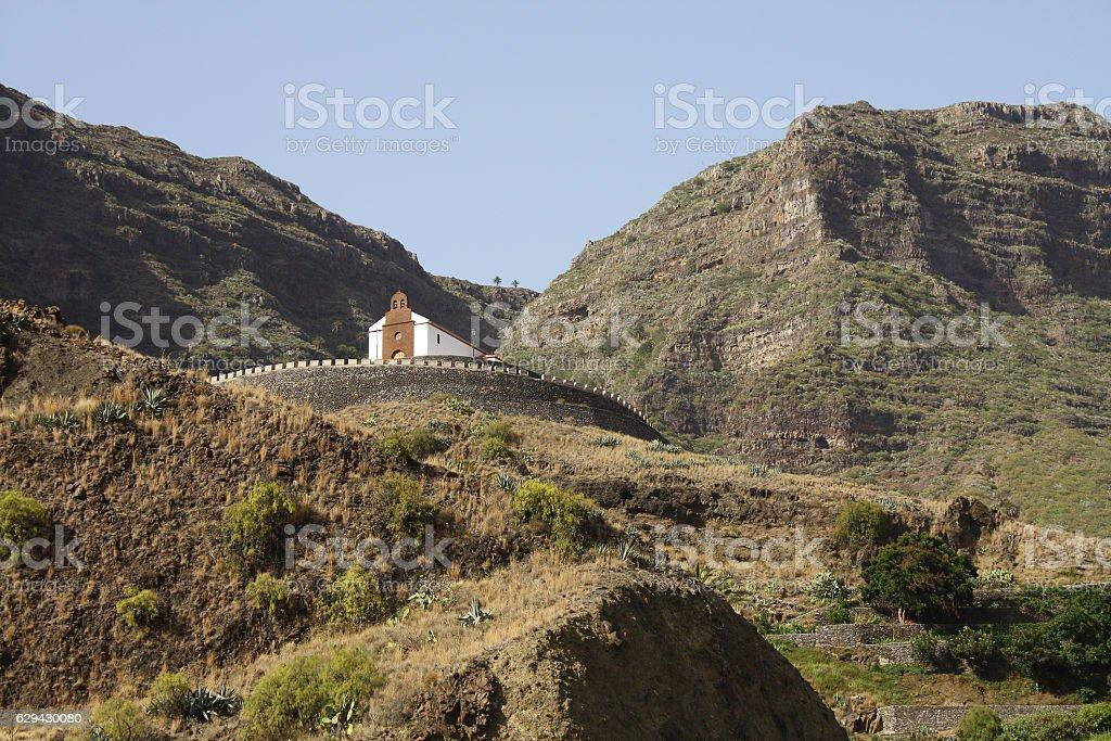 Ermita San Antonio, Valle Gran Rey, La Gomera stock photo
