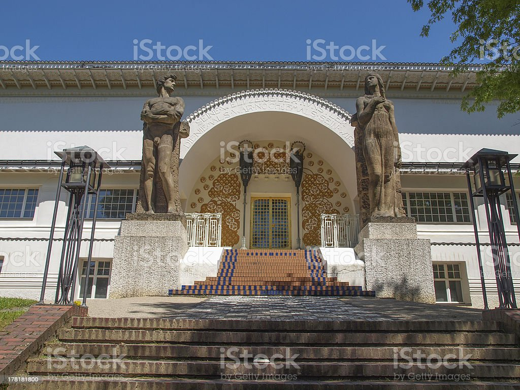 Ernst Ludwig House in Darmstadt stock photo
